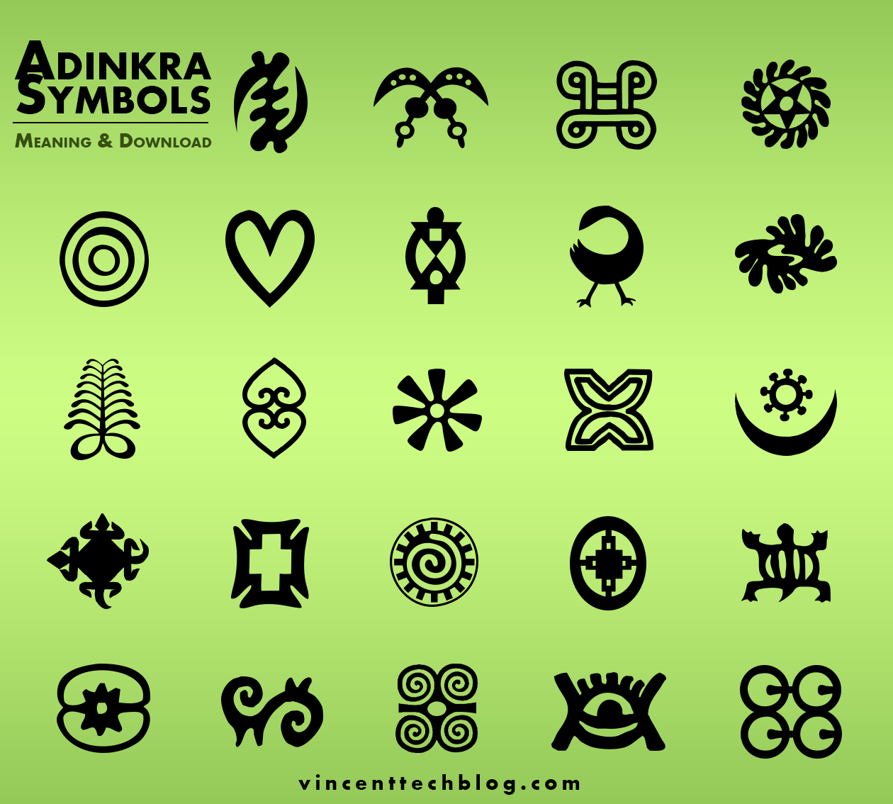 Adinkra Symbols Free Download Ghanaian Symbols Brushes Shapes