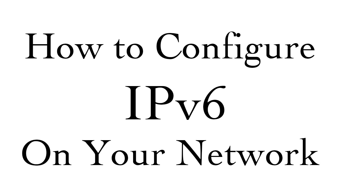 configure ipv6